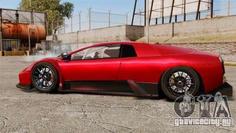 Lamborghini Murcielago RGT для GTA 4 вид слева