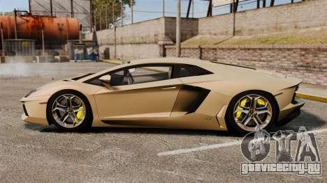 Lamborghini Aventador LP700-4 2012 v2.0 для GTA 4 вид слева