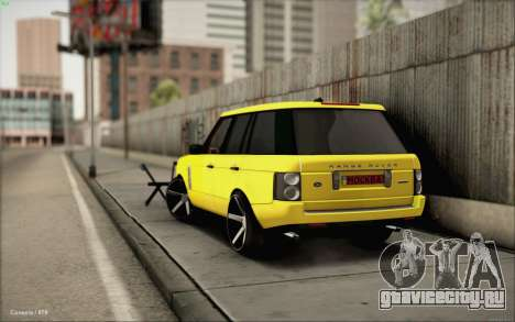 Land Rover Range Rover Gold Vossen для GTA San Andreas вид слева