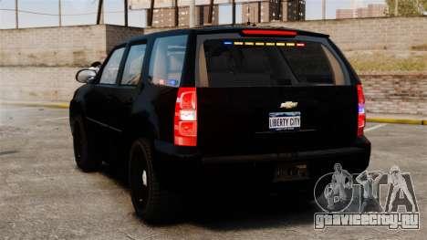 Chevrolet Tahoe 2008 Unmarked ELS для GTA 4 вид сзади слева