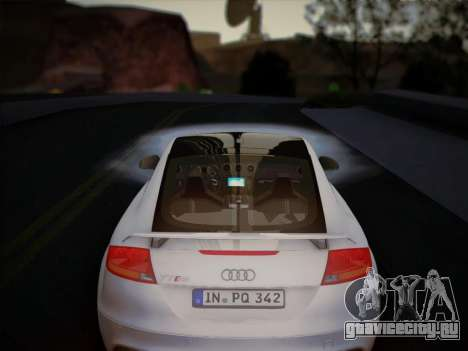 Audi TT RS 2013 для GTA San Andreas вид изнутри