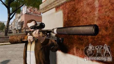 Снайперская винтовка AW L115A1 с глушителем v10 для GTA 4 третий скриншот