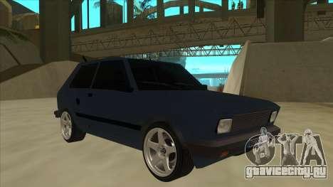 Zastava Yugo 1.1 для GTA San Andreas вид слева