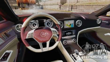 Mercedes-Benz SL500 2013 для GTA 4 вид изнутри