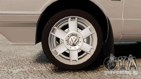 Volkswagen Citi Golf Velociti 2008 для GTA 4 вид сзади