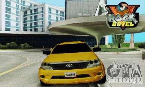 Toyota Fortuner Original 2013 для GTA San Andreas вид сзади