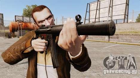 Пистолет-пулемёт MP5SD v5 для GTA 4 третий скриншот