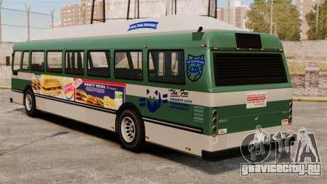 Новая реклама на автобус для GTA 4 вид слева