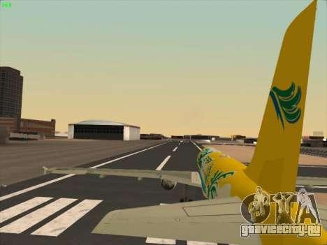 Airbus A320-211 Cebu Pacific Airlines для GTA San Andreas вид снизу