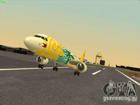 Airbus A320-211 Cebu Pacific Airlines для GTA San Andreas вид сзади