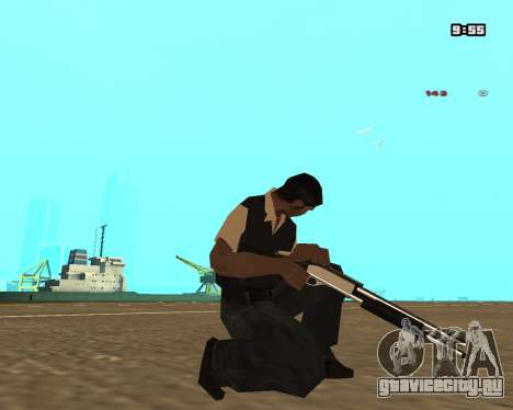 White Chrome Shotgun для GTA San Andreas третий скриншот