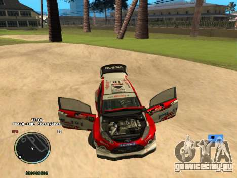 Ford Fiesta RS WRC для GTA San Andreas вид сзади