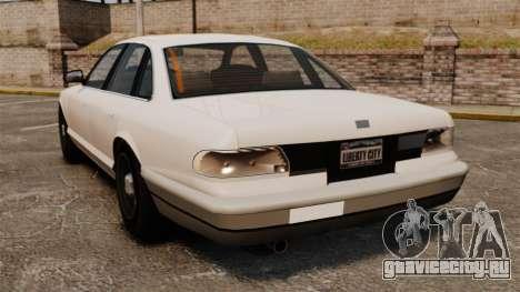 Гражданское такси для GTA 4 вид сзади слева