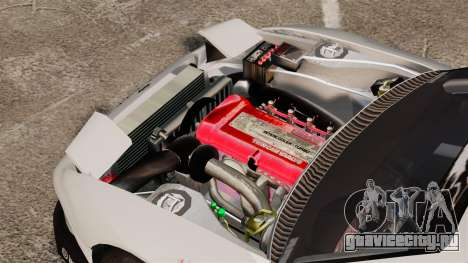 Nissan S330SX GT для GTA 4 вид сзади