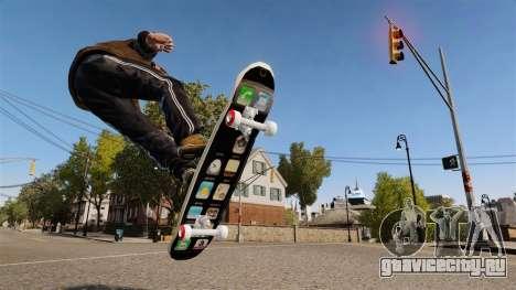 Скейтборд iPhone для GTA 4 вид слева