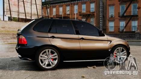 BMW X5 4.8iS v1 для GTA 4 вид слева