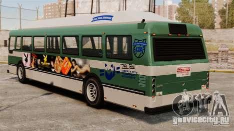 Новая реклама на автобус для GTA 4 вид справа