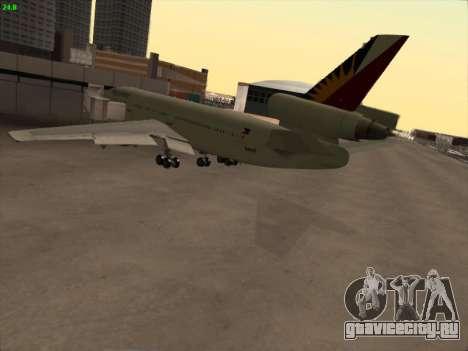 McDonell Douglas DC-10 Philippines Airlines для GTA San Andreas вид сзади