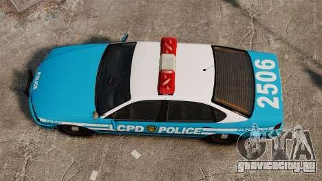 LCPD Police Patrol для GTA 4 вид справа