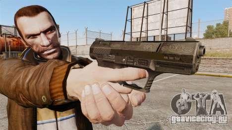 Самозарядный пистолет Walther P99 v4 для GTA 4 третий скриншот