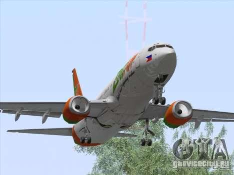 Boeing 737-800 Zest Air для GTA San Andreas вид изнутри