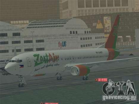 Boeing 737-800 Zest Air для GTA San Andreas двигатель