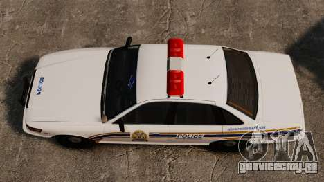 Полиция Шербрука для GTA 4 вид справа