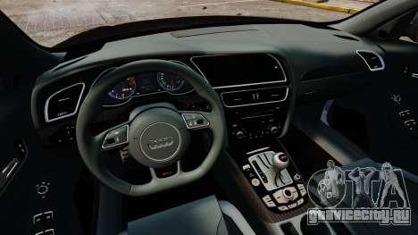 Audi RS4 Avant 2013 Sport v2.0 для GTA 4 вид изнутри