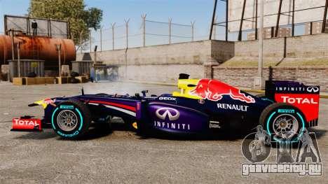 Болид Red Bull RB9 v1 для GTA 4 вид слева