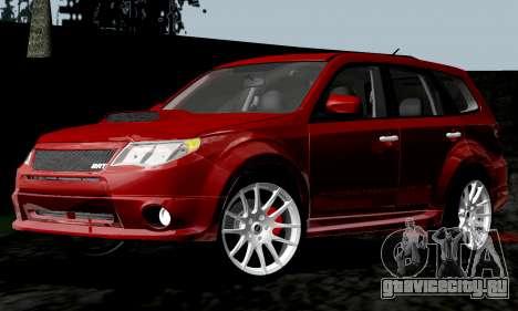 Subaru Forester RRT Sport 2008 v2.0 для GTA San Andreas вид сзади слева