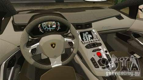 Lamborghini Aventador LP700-4 2012 v2.0 для GTA 4 вид изнутри