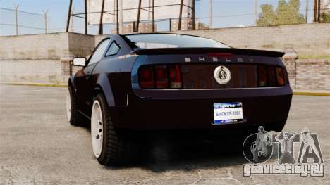 Ford Mustang Shelby GT500KR 2008 для GTA 4 вид сзади слева