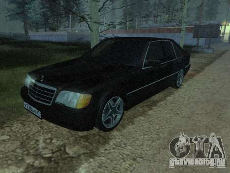 Mercedes-Benz w140 s600 для GTA San Andreas вид сбоку