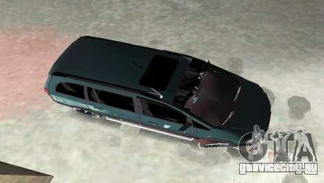 Opel Zafira для GTA Vice City вид изнутри