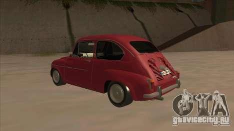 Zastava 750 Fico для GTA San Andreas вид справа