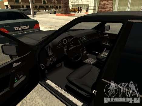 Mercedes-Benz w140 s600 для GTA San Andreas вид снизу