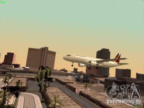 Airbus A320-211 Philippines Airlines для GTA San Andreas вид сверху