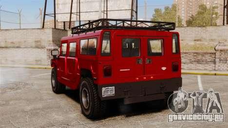 Hummer H1 для GTA 4 вид сзади слева