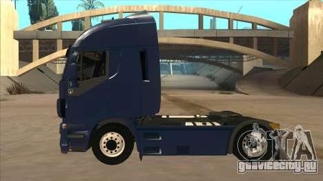 Iveco Stralis HI-WAY для GTA San Andreas вид сзади слева