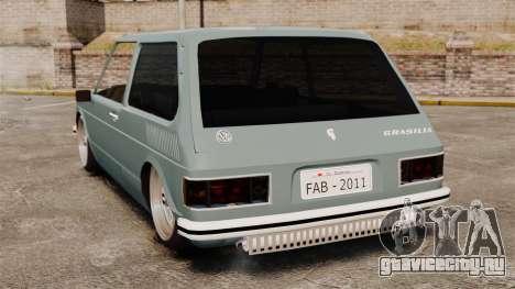 Volkswagen Brasilia для GTA 4 вид сзади слева