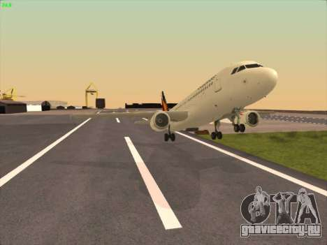 Airbus A320-211 Philippines Airlines для GTA San Andreas вид изнутри