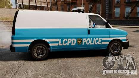 LCPD Police Van для GTA 4 вид слева