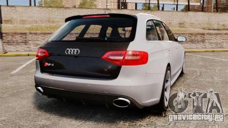 Audi RS4 Avant 2013 Sport v2.0 для GTA 4 вид сзади слева