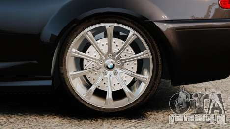 BMW M3 Coupe E46 для GTA 4 вид сзади
