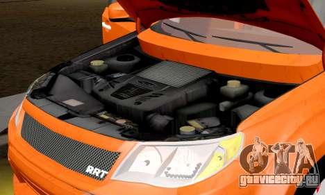 Subaru Forester RRT Sport 2008 v2.0 для GTA San Andreas вид изнутри