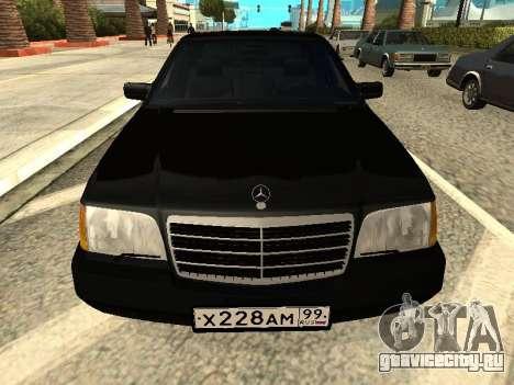 Mercedes-Benz w140 s600 для GTA San Andreas