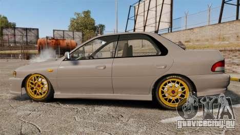 Subaru Impreza WRX STI 1999 [Final] для GTA 4 вид слева