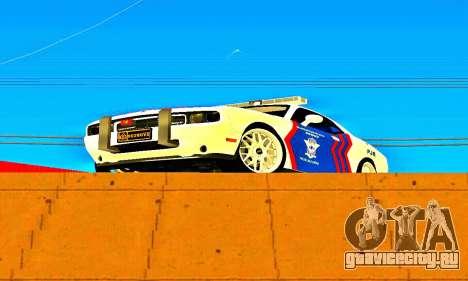 Dodge Challenger Indonesian Police для GTA San Andreas вид слева