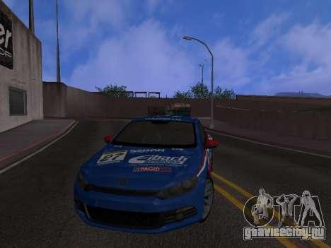 Volkswagen Scirocco для GTA San Andreas вид снизу