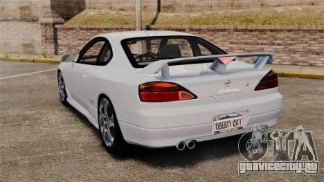 Nissan Silvia S15 v1 для GTA 4 вид сзади слева